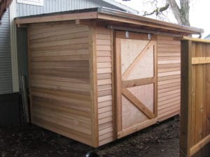 Sliding Shed Door options