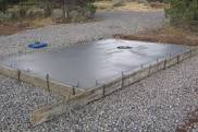 shed floor design concrete foundation