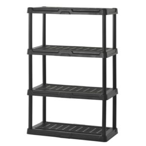 Shed shelving and storage sheds for homes for home for Attaching shelves to plastic shed