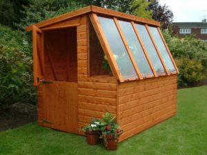 potting shed window ideas